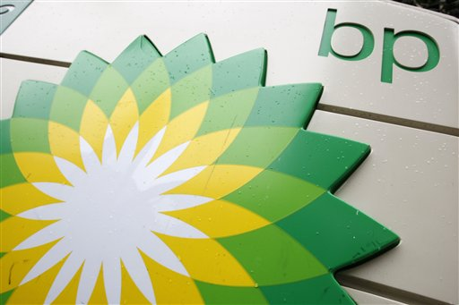 File - The BP (British Petroleum) logo is seen at a gas station in Washington, in this Oct. 25, 2007 file photo. Iraqs government Saturday Oct. 17, 2009 approved an oil deal with a consortium led by British giant BP PLC to develop a prized oil field in the south. BP and its partner Chinas CNPC were the only winners in Iraqs first international oil auction in over 30 years in June for development rights for the 17.8 billion-barrel Rumaila field.