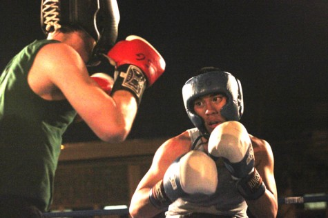 "Kevin ""The Killa"" Abanilla, biology freshman, prepares to throw a punch during his April 1 fight at the Freret Street Gym. Abanilla won in a unanimous decision."