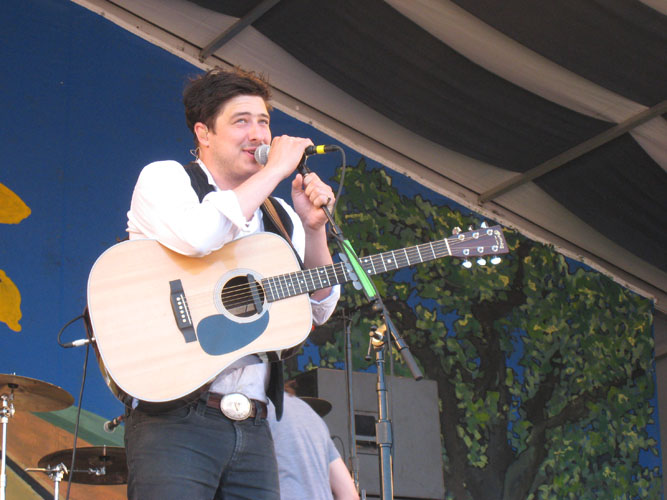 Marcus Mumford of the band Mumford and Sons performs at Jazz Fest on Friday, April 29. Jazz Fest will continue this weekend at the Fair Grounds Race Course on Gentilly Boulevard.