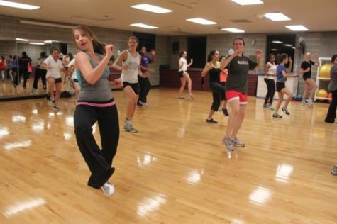 Tulane senior Jamie Revell instructs her Zumba class in the University Sports Complex on Wednesday, Nov. 30. Revell began instructing Zumba at Loyola after a conflicting schedule with Tulane's aerobics program.