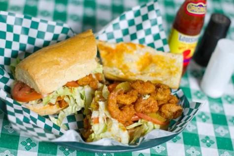 Firecracker shrimp po-boy from Parasol's Bar and Restaurant
