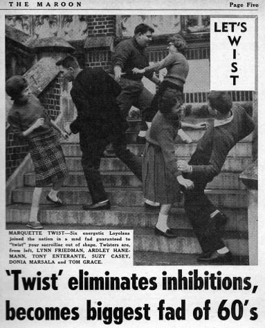 Twist eliminates inhibitions, becomes biggest fad of '60s at Loyola