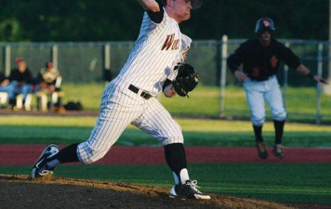 Biology pre-med freshman Joshua LeBoeuf practices his pitching. LeBoeuf is the picther of Loyola's Baseball team.