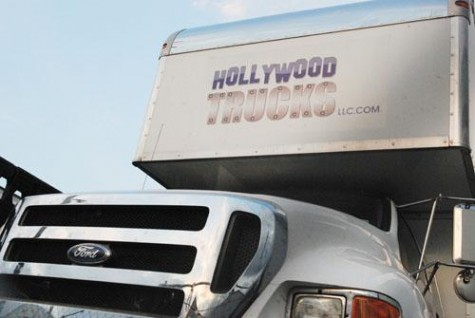 An entire parking lot on Tchoupitoulas Street is currently full of Hollywood film trucks. Due to the tax breaks that the city is offering New Orleans has become home to many filming crews.
