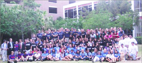 The Loyola chapter of the National Panhellenic Council stands assembled in the Peace Quad during Greek Week 2011. The National Panhellenic Council is a powerful influence on an omnipresent facet of college campuses.