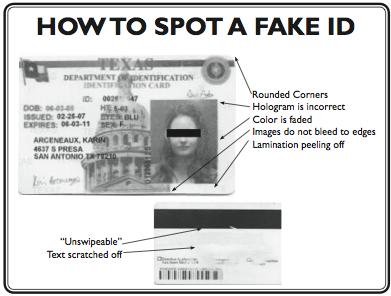 Fake IDs are still prevalent in college