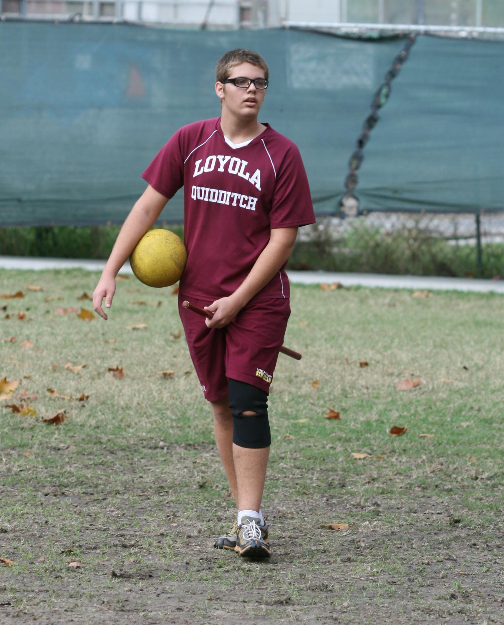 Tad Walters, history sophomore and Quidditch player.