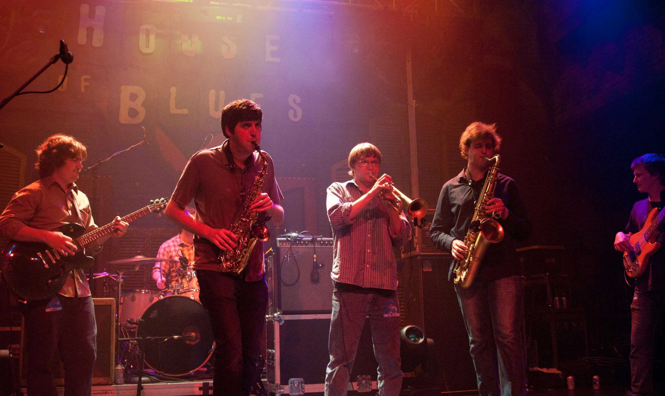 "Jazz studies junior Bill Daniel, jazz studies senior Nick Ellman, music industry senior John Culbreth and jazz studies senior Ian Bowman perform at the House of Blues. ""Until Next Time"" is the band's second album."
