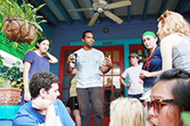 Loyola students helped New Orleans home owners save money and the environment by giving out free, energy-efficient light bulbs during Spark week fall 2012. LUCAP organizes Spark week for new and returning students looking to get active in the community.