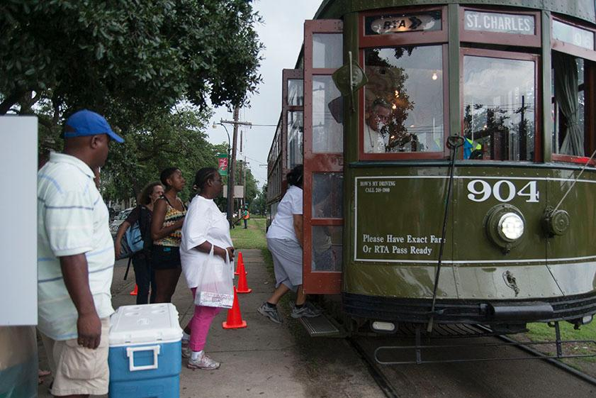 The St. Charles Avenue line will now run between Canal Street and Jefferson Avenue, while buses will run from Jefferson Avenue to S. Claiborne Avenue.