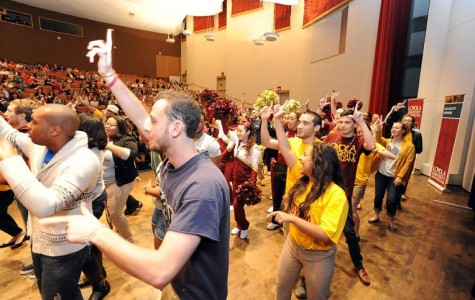 Groups dance to win over  future Wolf Pack members