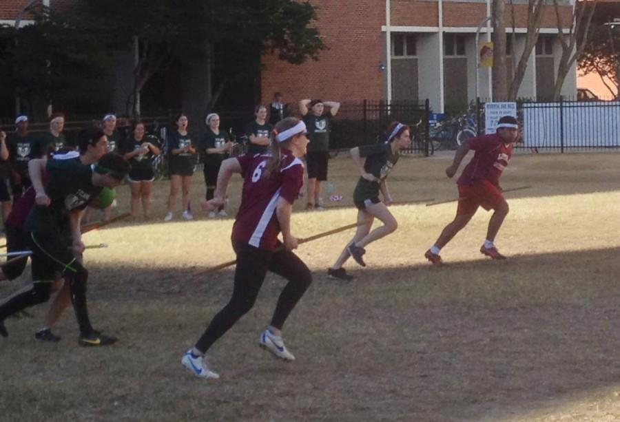 Loyola+Quidditch+defeated+Tulane+University+in+a+series+of+3+matches+on+Sunday%2C+Jan.+19.+Loyola+has+been+undefeated+against+Tulane+3+seasons.