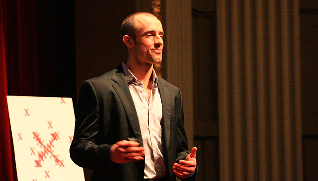 Jonathan Bailor, New York Times bestseller and nutritional and fitness expert, speaks at TEDxTU about fighting the battle against diabetes in the same manner as tobacco. Tulane University hosted its fifth TED talk featuring a range of speakers from students to the CEO of an advertising firm to talk about their personal experiences and how to use them to build a better future.