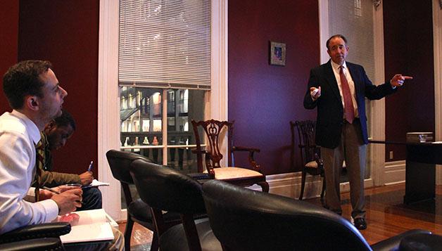 Alumni association holds professional development lecture