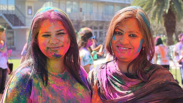 Tulane and Loyola students celebrate Holi in Tulane's Bruff Quad on Saturday, March 7. This event allowed students to share their cultures with others, while still observing their Hindu holiday.