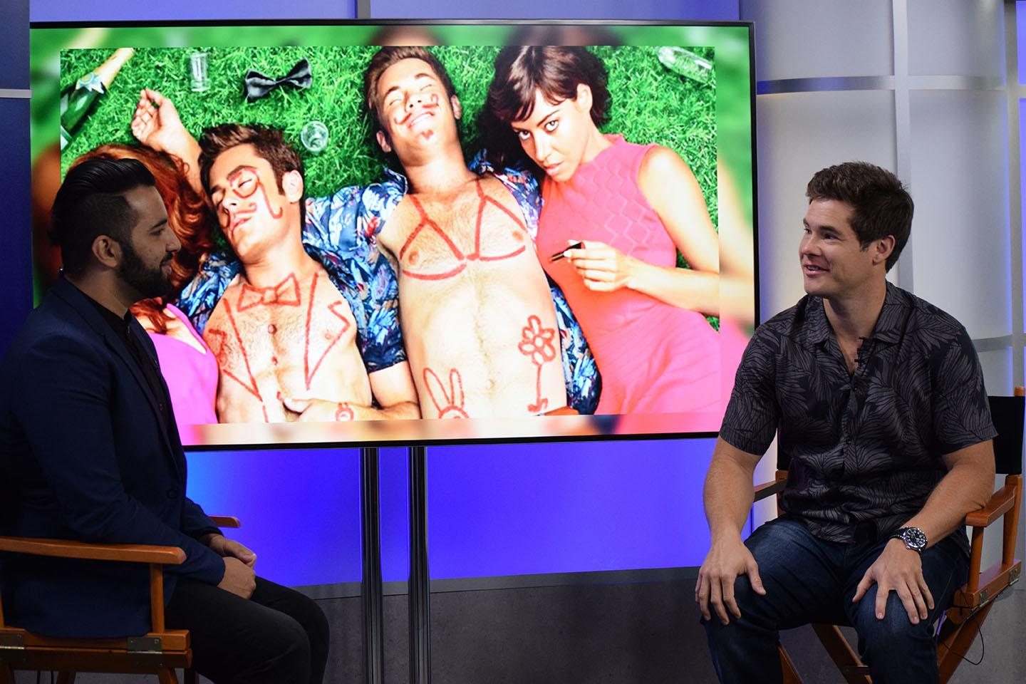 """Adam DeVine sat down with Maroon reporter Zayn Abidin to talk about his new movie """"Mike and Dave Need Wedding Dates.""""  The interview took place on April 26 at Loyola's mass communication news set."""
