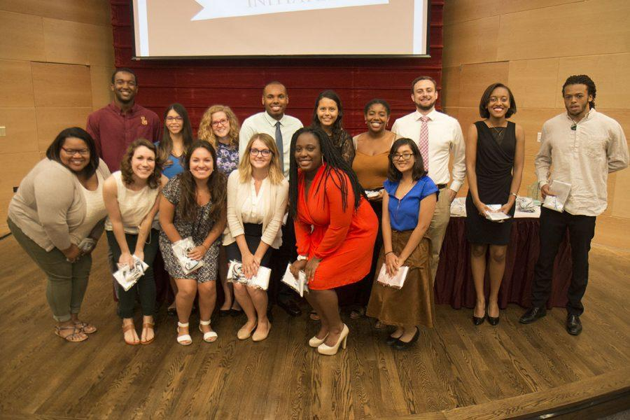 The spring 2016 Omicron Delta Kappa Initiates were presented at the ceremony. Other awards and scholarships were presented to students at the Magis awards ceremony.