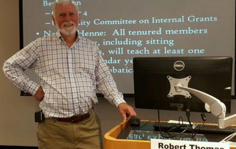Bob Thomas becomes chairman of the university senate