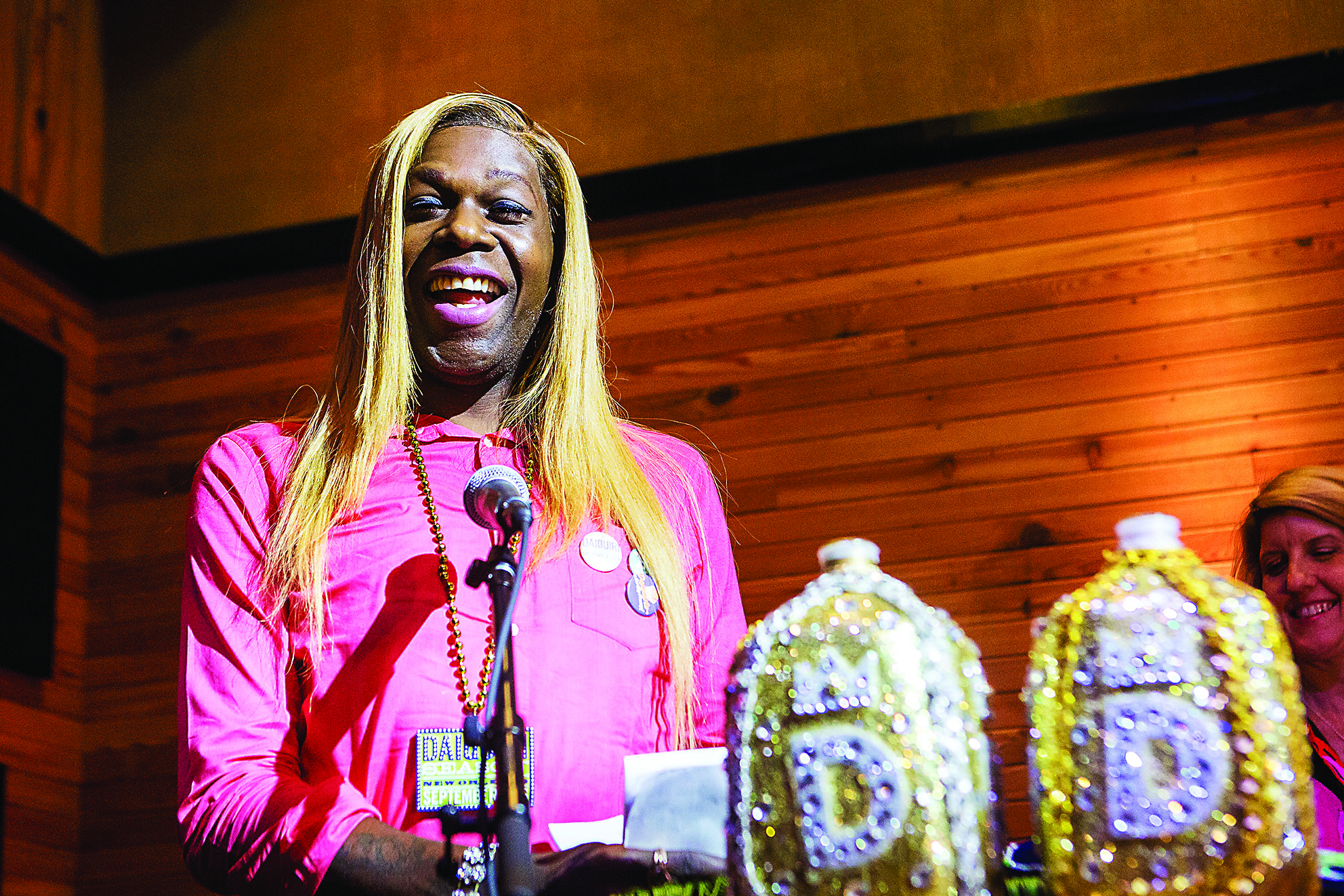 New Orleans music celebrity Big Freedia announces the Duke and Duchess of The Daiquiri Sept. 13 at the Ace Hotel. The winners of the first ever daiquiri competition were selected out of 43 different specialty drinks submitted by bars and restaurants participating in Daiquiri Season. (Courtesy of Josh Brasted)