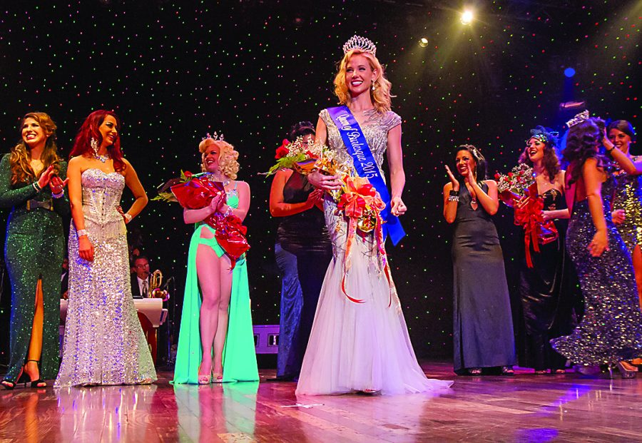 Renowned burlesque dancer Miss Stormy Gayle is crowned New Orleans International Queen of Burlesque 2015. (Courtesy of New Orleans Burlesque Festival)