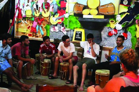Wolf Pack volunteers lead music and sports clinics in Belize