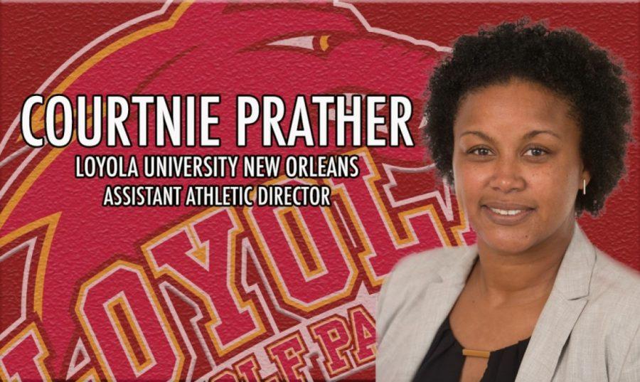 Courtnie Prather, assistant athletic director Photo credit: Loyola University Athletics