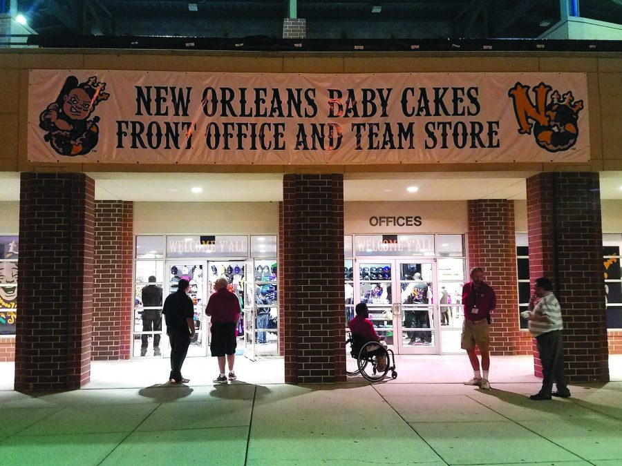 The+Baby+Cakes+front+office+and+merchandise+store+is+located+near+the+front+of+the+stadium.+The+team+announced+its+new+name+Nov.+15.+Photo+credit%3A+Ryan+Micklin