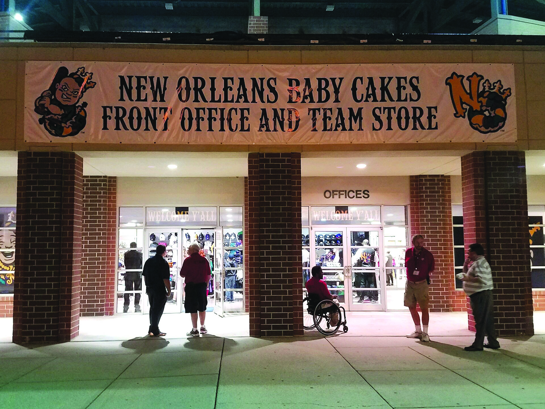 The Baby Cakes front office and merchandise store is located near the front of the stadium. The team announced its new name Nov. 15. Photo credit: Ryan Micklin