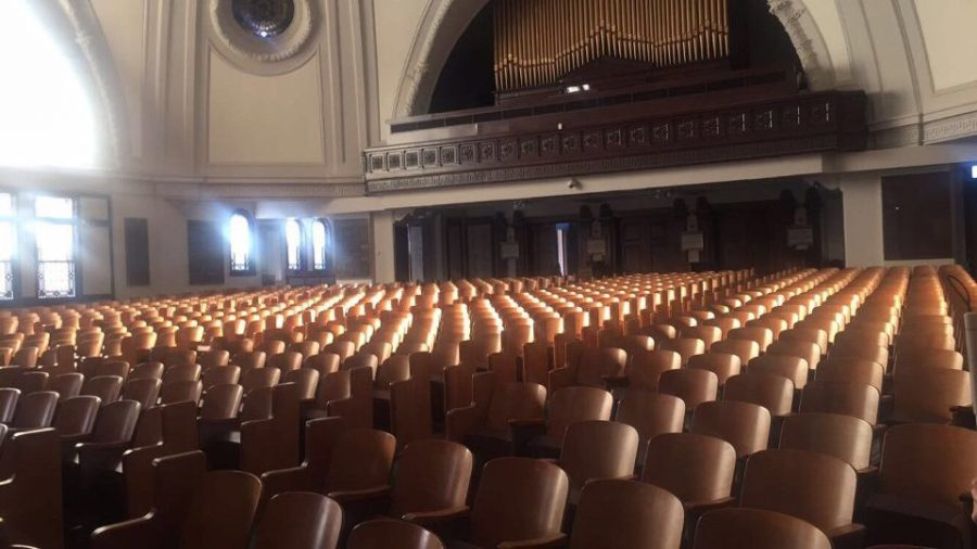 Touro Synagogue sits empty after Cierra Johnson, English writing freshman, attended a Jewish Shabbat service. First-year honors students are required to attend and reflect on a religious service outside their faith tradition for their 1-credit Ignatian Colloquium class. Photo credit: Cierra Johnson