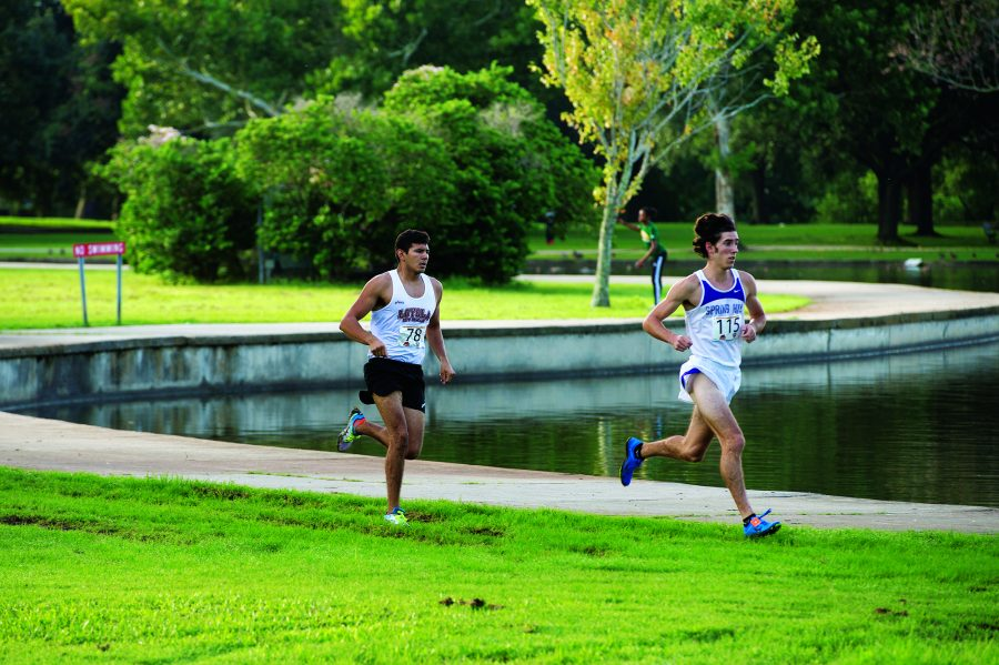 Anthony Rizzi, environmental sophomore, competes in the NAIA National Championship on Nov. 19. Rizzi became Loyola's first male national qualifier since 2006.