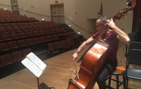 James VanDemark rehearses in Roussell Hall on Nov. 30. He will perform with Loyola University New Orleans' symphony orchestra on Dec. 3.