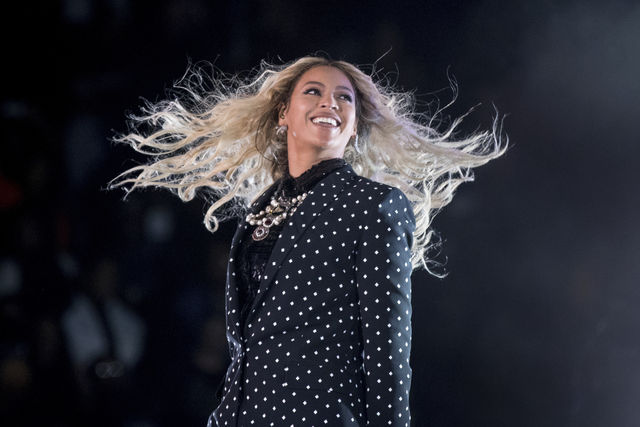 "FILE - This Nov. 4, 2016 file photo shows Beyonce performing at a Get Out the Vote concert for Democratic presidential candidate Hillary Clinton in Cleveland. Beyonce was sued in federal court on Monday, Feb. 6, 2017, for $20 million by the estate of a late New Orleans YouTube star over the use of his voice in her song ""Formation."" (AP Photo/Andrew Harnik, File)"