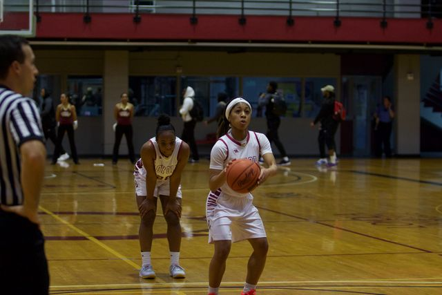 Junior+Zoie+Miller+takes+a+free+throw+shot+during+her+game+on+Jan.+26.+The+Wolf+Pack+won+against+the+Martin+Methodist+Redhawks+on+Monday+69-61.+Photo+credit%3A+Marisabel+Rodriguez