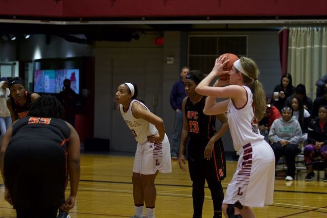 Freshman+Mary+Grace+Copa+shoots+a+free+throw+during+her+game+on+Jan.+26.+The+Wolf+Pack+were+eliminated+from+the+SSAC+tournament+on+Friday.+Photo+credit%3A+Marisabel+Rodriguez