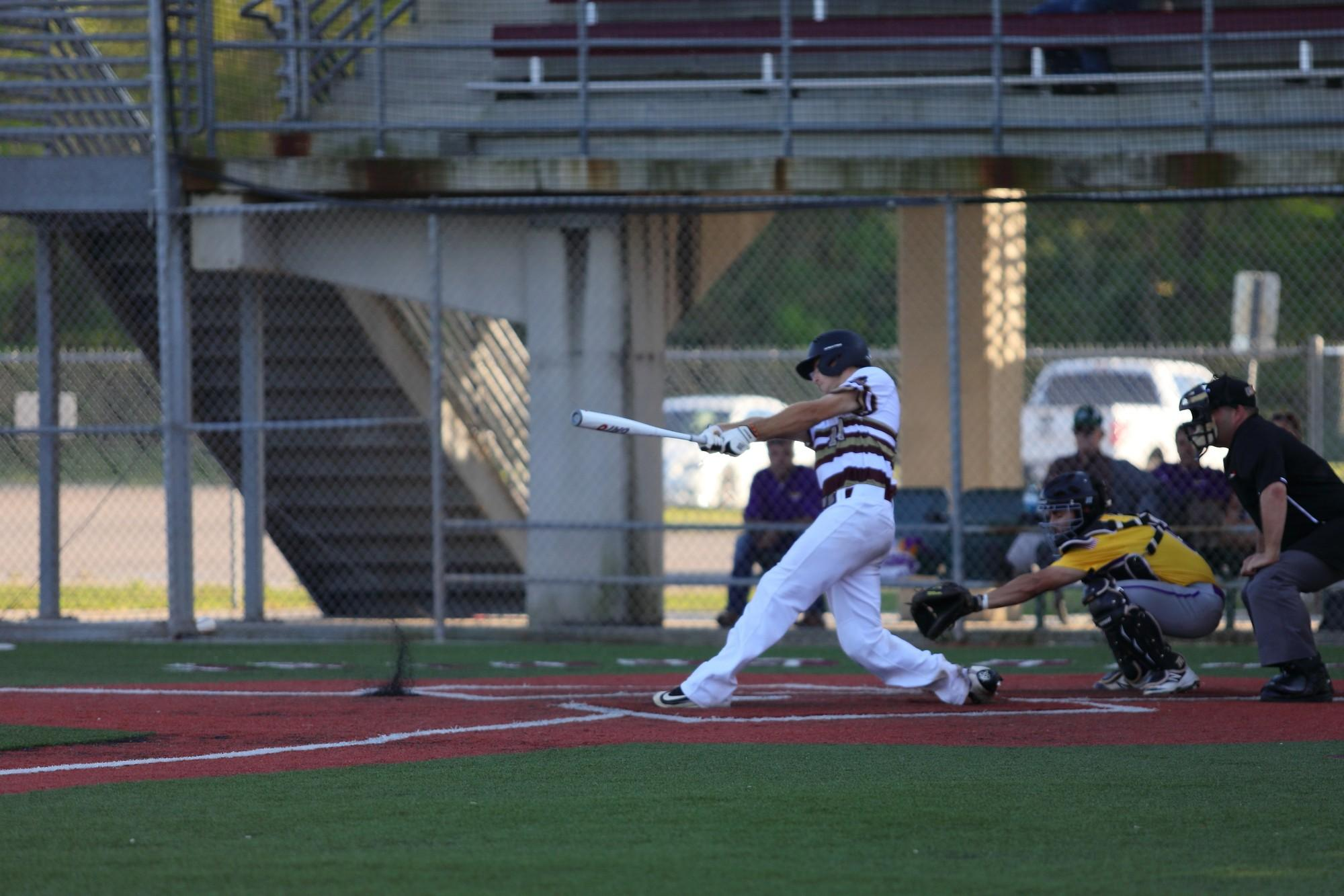 General studies junior Ben Condara up to bat during tuesday's game against Louisiana State University-Alexandria. The wolfpack is set to play Blue Mountain College this friday March 24th 2017. Photo credit: Marisabel Rodriguez