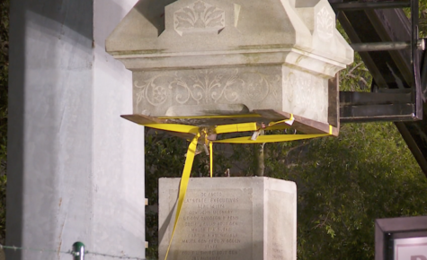 Confederate monument debate continues as one statue is taken down secretly