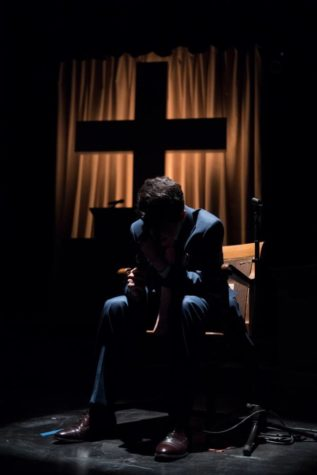 Javier Mederos as Pastor Paul in Lucas Hnath's