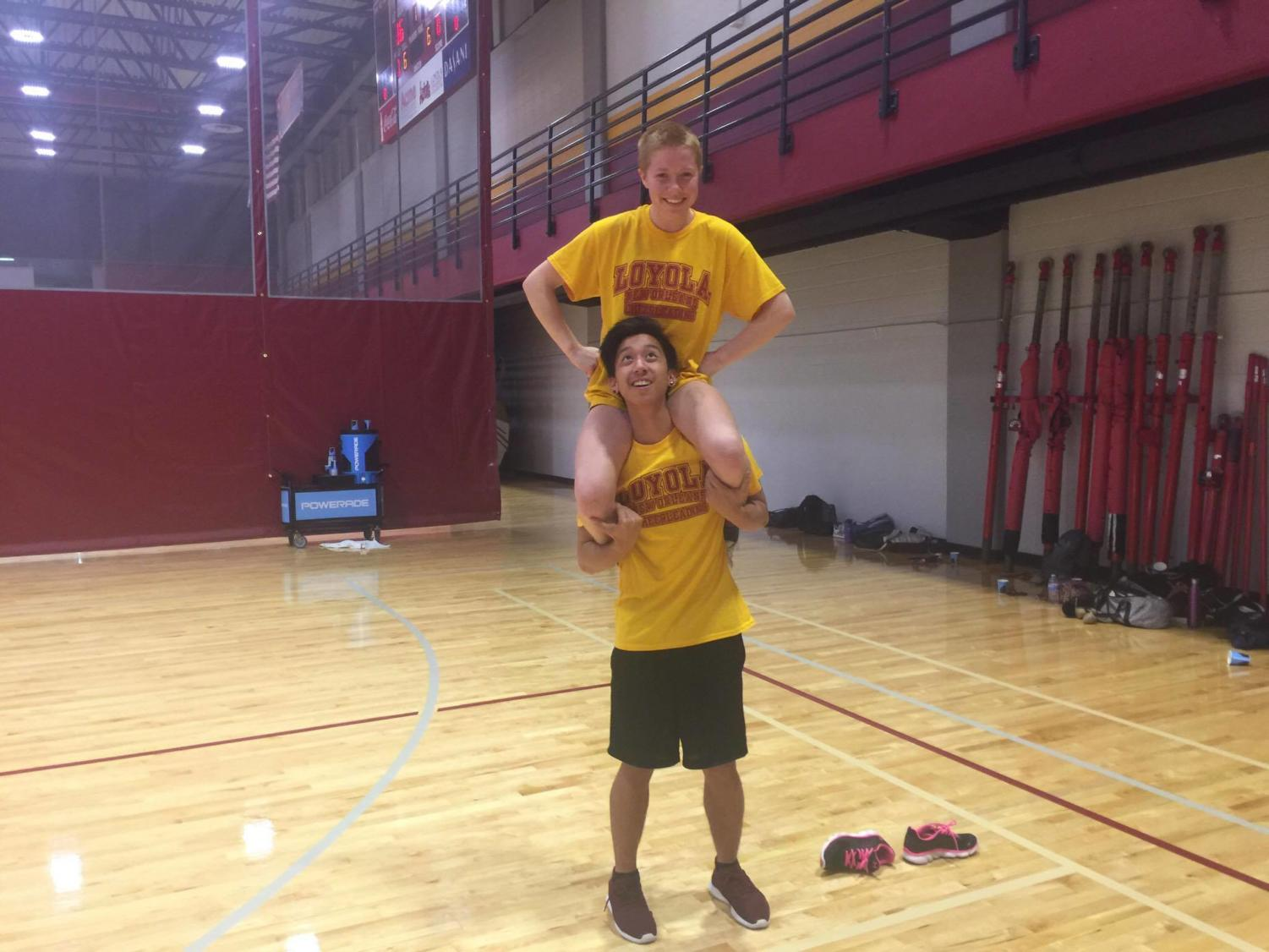 Sports editor JC Canicosa tries out the sport of cheerleading. Certainly, this can only go well.