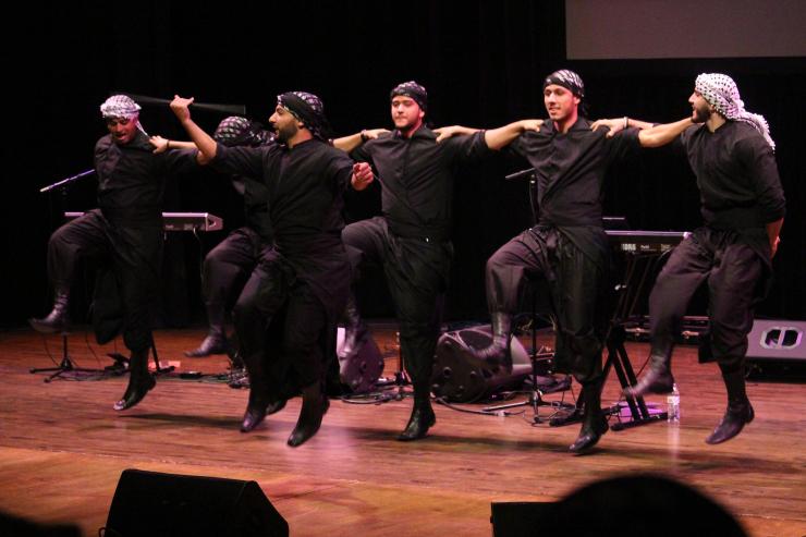 Turab+Beladi%2C+a+Michigan-based+Arab+Debkah+dance+group%2C+opening+for+Ahmed+Fahmi+and+Ameer+Dandan.+Oct.+1+2017+Photo+credit%3A+Caleb+Beck