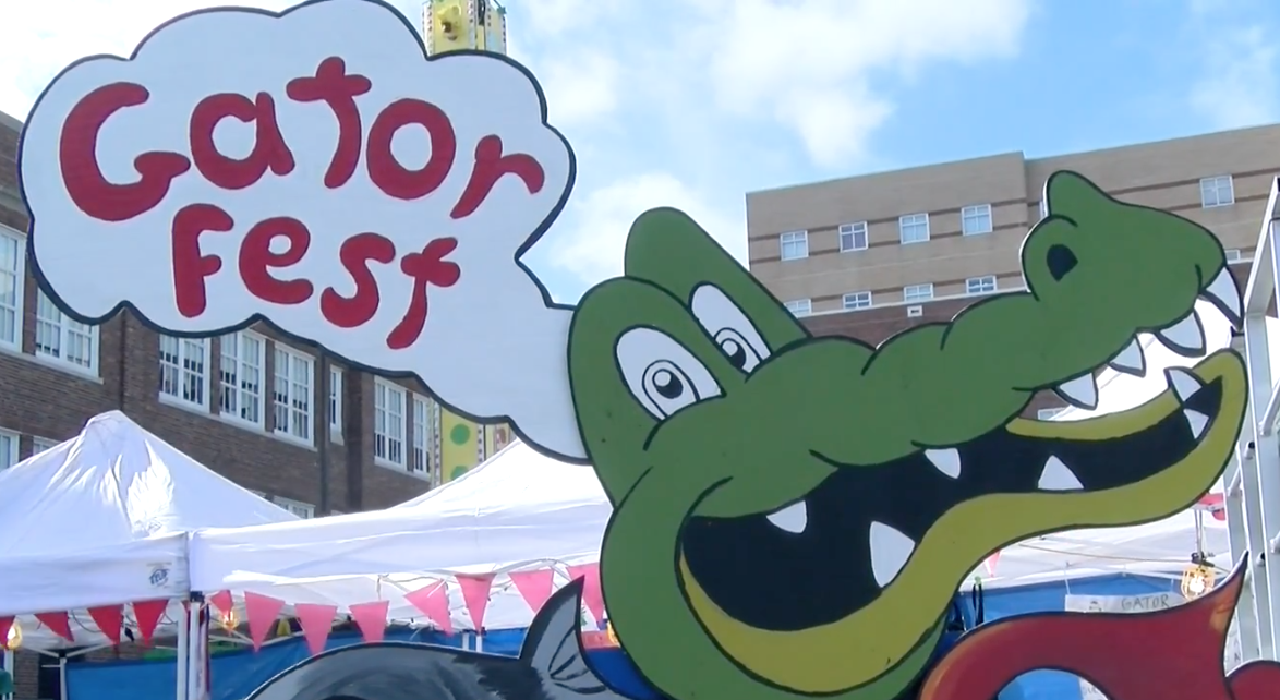 Watch: Holy Name of Jesus school celebrates annual 'Gator Fest'