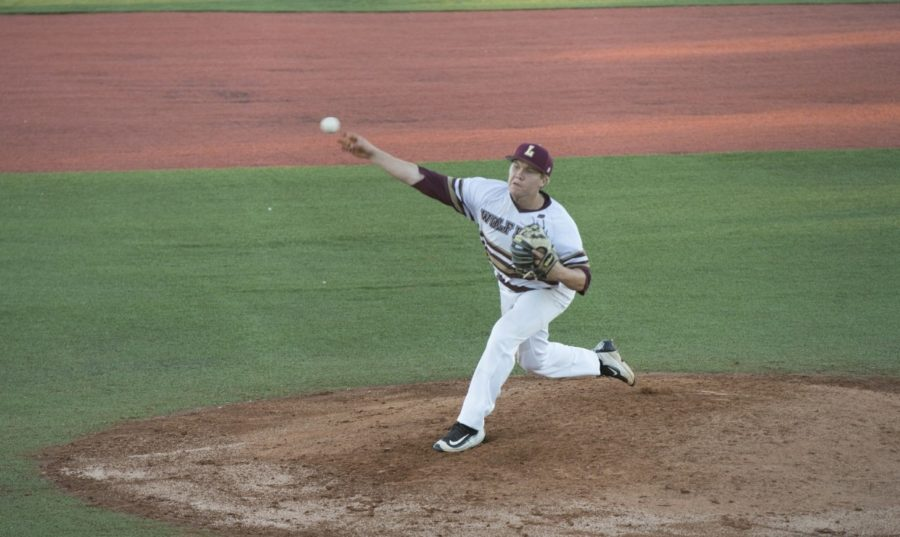 Marketing+Senior+Joseph+Kuchler+%284%29+pitched+a+one-hit+complete+game+shutout+in+Game+1+versus+Dallas+Christian+College+Feb.+23+2018.+Loyola+swept+the+Crusaders%2C+improving+their+record+to+11-3.+LOYOLA+NEW+ORLEANS+ATHLETICS%2FCourtesy.