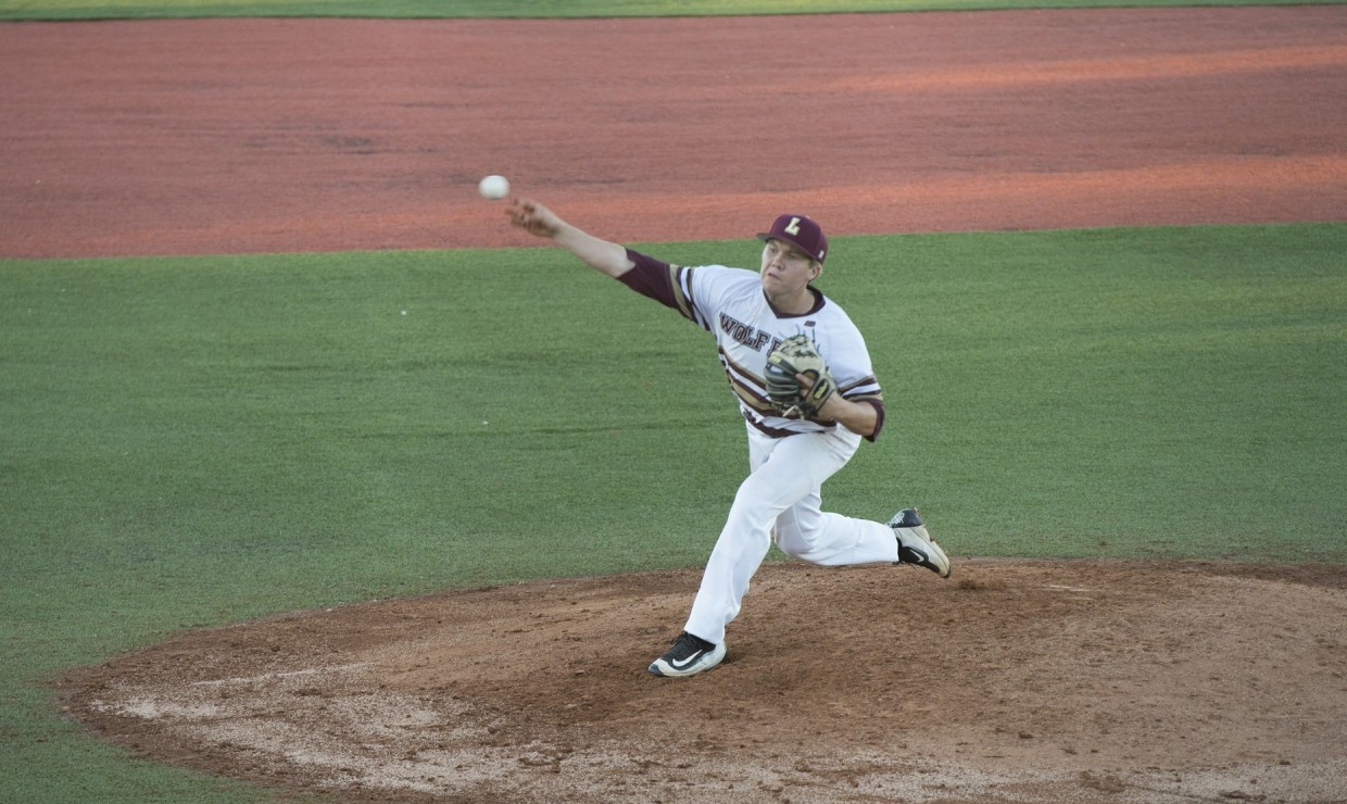 Marketing Senior Joseph Kuchler (4) pitched a one-hit complete game shutout in Game 1 versus Dallas Christian College Feb. 23 2018. Loyola swept the Crusaders, improving their record to 11-3. LOYOLA NEW ORLEANS ATHLETICS/Courtesy.