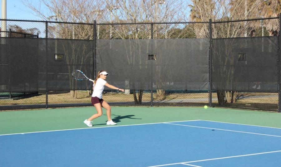 The+Loyola+women%27s+tennis+team+won+versus+LSU-Shreveport+and+lost+to+LSU-Alexandria+in+a+doubleheader+Feb.+24+2018.+The+tennis+team+now+has+a+5-4+overall+record.+LOYOLA+NEW+ORLEANS+ATHLETICS%2FCourtesy.