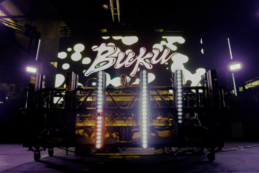 CloZee performing at the float den stage. The BUKU Music + Art Project occurred on March 9-10 making this the 7th year of operation. Photo credit: Angelo Imbraguglio