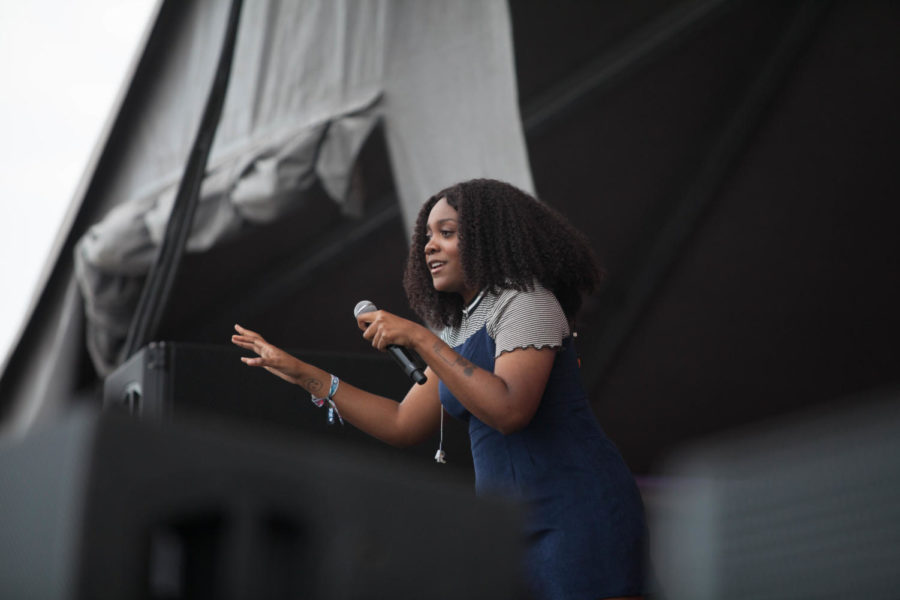 Noname performing at the powerplant stage. The BUKU Music + Art Project occurred on March 9-10 making this the 7th year of operation. Photo credit: Angelo Imbraguglio
