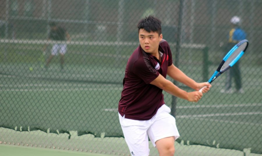 Freshman Tiger Cheung is the newest international tennis player from Hong Kong, China. After traveling over 8,000 miles from his home, Cheung has embraced Loyola as his school. Photo credit: Loyola University Athletics