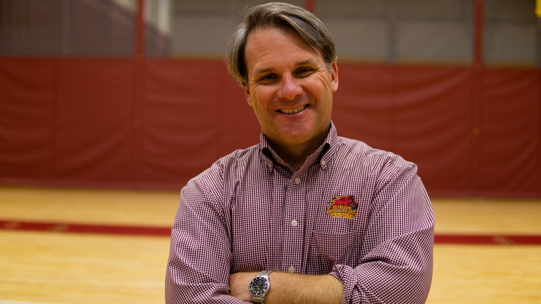 Brett Simpson, director of athletics, has been a part of the front office for the past 20 years. He has managed to add four new sports teams and over 200 student-athletes to the program. Photo credit: Jacob Meyer