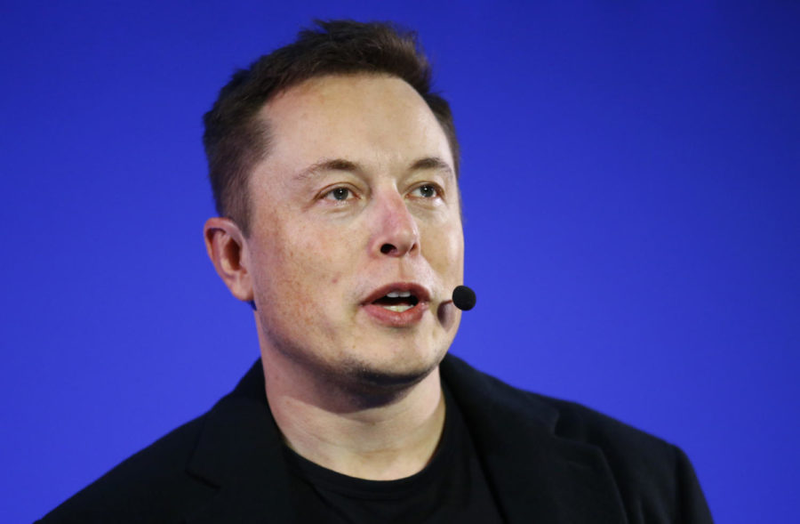 In this Dec. 2, 2015, file photo, Tesla Motors Inc. CEO Elon Musk delivers a speech at the Paris Pantheon Sorbonne University as part of the United Nations Climate Change Conference in Paris. For years, Tesla has boasted that its cars and SUVs are safer than other vehicles on the roads, and CEO Elon Musk doubled down on the claims in a series of tweets this week. (AP Photo/Francois Mori, File)