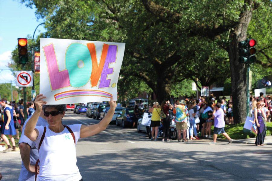 Loyola Protester