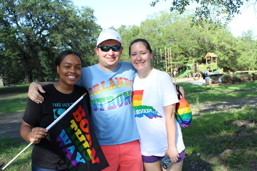 A+group+of+LGBTQ+counter-protesters+at+Audubon+Park+protesting+against+the+Westboro+Baptist+Church+Photo+credit%3A+Rhon+Ridgeway